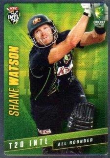 2015/16 CA & BBL Cricket Silver Parallel #P45 Shane Watson Australian T20
