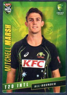 2015/16 CA & BBL Cricket Silver Parallel #P38 Mitchell Marsh Australian T20