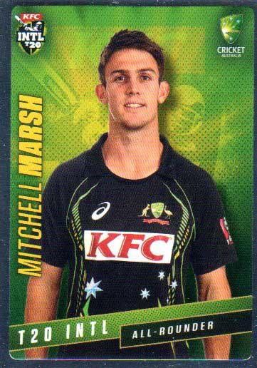 2015/16 CA & BBL Cricket Silver Parallel #P38 Mitchell Marsh Australian T20