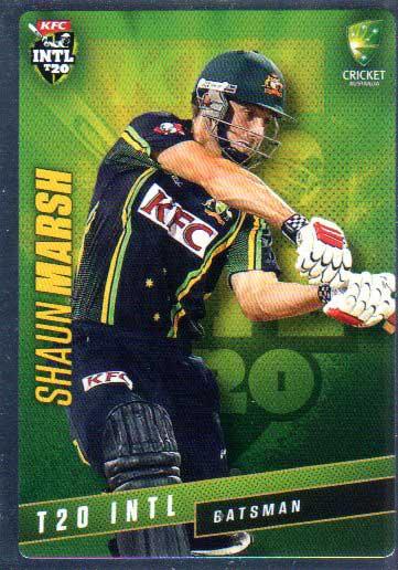 2015/16 CA & BBL Cricket Silver Parallel #P39 Shaun Marsh Australian T20