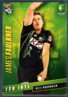 2015/16 CA & BBL Cricket Silver Parallel #P36 James Faulkner Australian T20