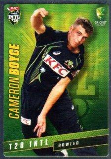 2015/16 CA & BBL Cricket Silver Parallel #P33 Cameron Boyce Australian T20