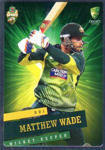 2015/16 CA & BBL Cricket Silver Parallel #P28 Matthew Wade Australian ODI