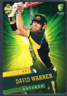 2015/16 CA & BBL Cricket Silver Parallel #P29 David Warner Australian ODI