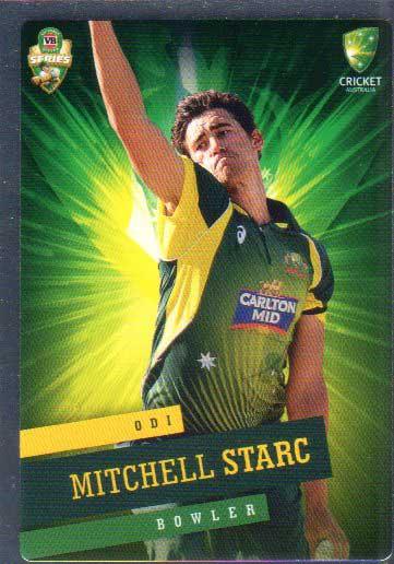 2015/16 CA & BBL Cricket Silver Parallel #P27 Mitchell Starc Australian ODI