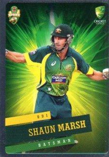 2015/16 CA & BBL Cricket Silver Parallel #P24 Shaun Marsh Australian ODI