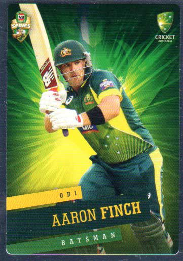 2015/16 CA & BBL Cricket Silver Parallel #P20 Aaron Finch Australian ODI