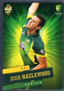 2015/16 CA & BBL Cricket Silver Parallel #P21 Josh Hazelwood Australian ODI