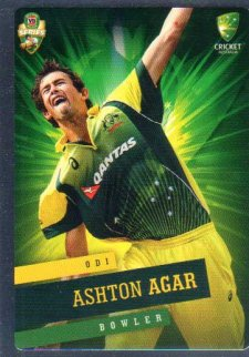 2015/16 CA & BBL Cricket Silver Parallel #P16 Ashton Agar Australian ODI
