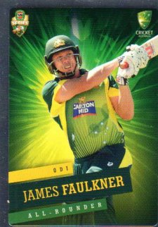 2015/16 CA & BBL Cricket Silver Parallel #P19 James Faulkner Australian ODI