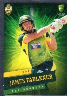2015/16 CA & BBL Cricket Silver Parallel #P19 James Faulkner Australian ODI