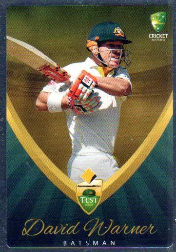 2015/16 CA & BBL Cricket Silver Parallel #P15 David Warner Australian Test