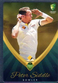2015/16 CA & BBL Cricket Silver Parallel #P11 Peter Siddle Australian Test