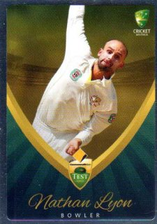 2015/16 CA & BBL Cricket Silver Parallel #P7 Nathan Lyon Australian Test