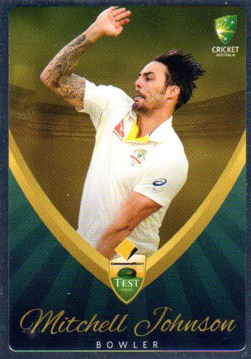 2015/16 CA & BBL Cricket Silver Parallel #P5 Mitchell Johnson Australian Test