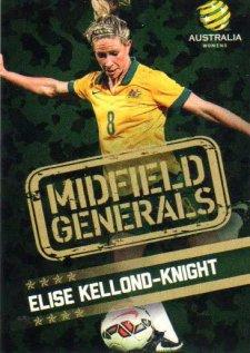 2015/16 FFA & A-League Soccer Midfield Generals #MG-02 Elise Kellond-Knight Matildas