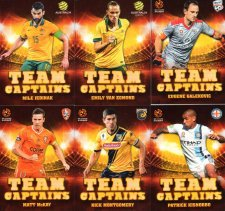 2015/16 FFA & A-League Soccer Team Captains Complete 12-Card Insert Set