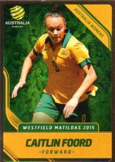 2015/16 FFA & A-League Soccer Gold Parallel #27 Caitlin Foord Matildas