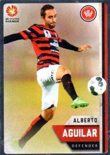 2015/16 FFA & A-League Soccer Silver Parallel #186 Alberto Aguilar Western Sydney Wanderers FC