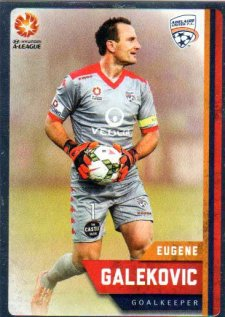 2015/16 FFA & A-League Soccer Silver Parallel #47 Eugene Galekovic Adelaide United