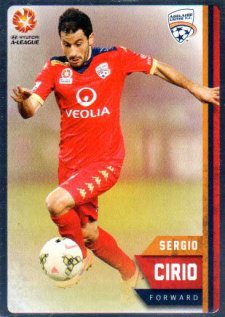 2015/16 FFA & A-League Soccer Silver Parallel #43 Sergio Cirio Adelaide United