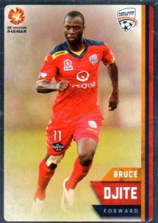 2015/16 FFA & A-League Soccer Silver Parallel #44 Bruce Djite Adelaide United