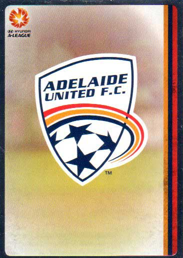 2015/16 FFA & A-League Soccer Silver Parallel #41 Team Logo Adelaide United