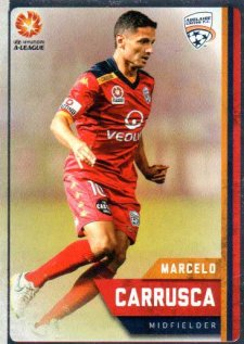 2015/16 FFA & A-League Soccer Silver Parallel #42 Marcelo Carrusca Adelaide United