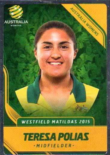 2015/16 FFA & A-League Soccer Silver Parallel #33 Teresa Polias Matildas