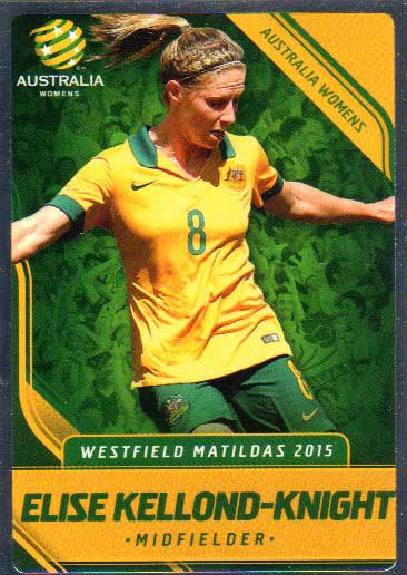 2015/16 FFA & A-League Soccer Silver Parallel #30 Elise Kellond-Knight Matildas