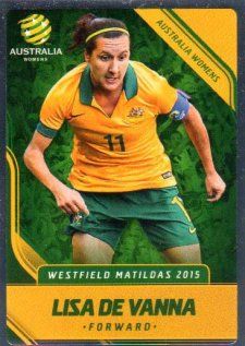 2015/16 FFA & A-League Soccer Silver Parallel #26 Lisa De Vanna Matildas