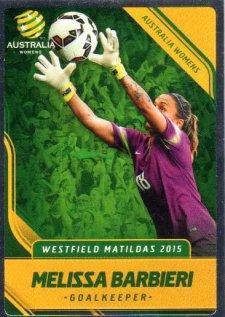 2015/16 FFA & A-League Soccer Silver Parallel #23 Melissa Barbieri Matildas