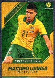 2015/16 FFA & A-League Soccer Silver Parallel #12 Massimo Luongo Socceroos