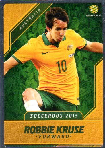 2015/16 FFA & A-League Soccer Silver Parallel #9 Robbie Kruse Socceroos