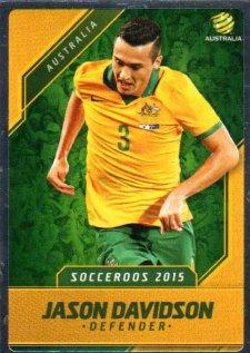 2015/16 FFA & A-League Soccer Silver Parallel #5 Jason Davidson Socceroos