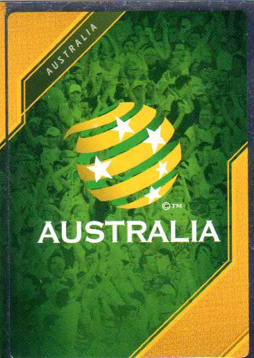 2015/16 FFA & A-League Soccer Silver Parallel #1 Team Logo Socceroos