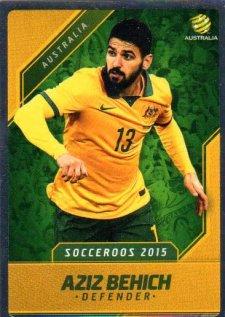 2015/16 FFA & A-League Soccer Silver Parallel #2 Aziz Behich Socceroos