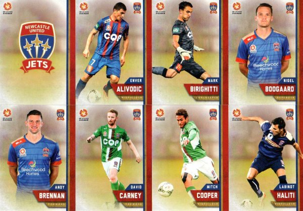 2015/16 FFA & A-League 16-Card Team Set Newcastle United