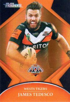 2016 NRL Traders Parallel #P159 James Tedesco Tigers