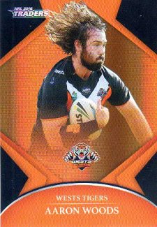 2016 NRL Traders Parallel #P160 Aaron Woods Tigers