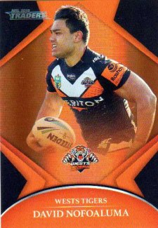 2016 NRL Traders Parallel #P156 David Nofoaluma Tigers
