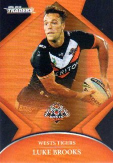 2016 NRL Traders Parallel #P152 Luke Brooks Tigers