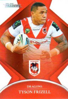 2016 NRL Traders Parallel #P125 Tyson Frizell Dragons
