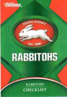 2016 NRL Traders Parallel #P111 Rabbitohs Logo