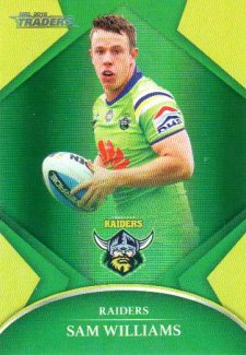 2016 NRL Traders Parallel #P20 Sam Williams Raiders