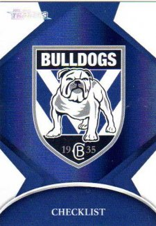2016 NRL Traders Parallel #P21 Bulldogs Logo