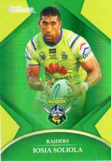 2016 NRL Traders Parallel #P18 Iosia Soliola Raiders