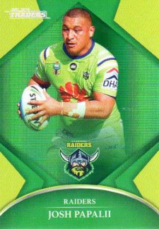 2016 NRL Traders Parallel #P16 Josh Papalii Raiders