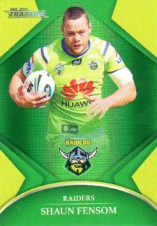 2016 NRL Traders Parallel #P14 Shaun Fensom Raiders