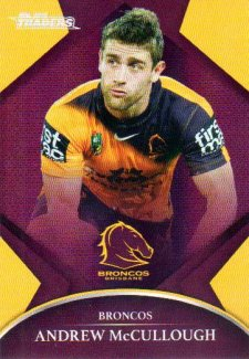 2016 NRL Traders Parallel #P7 Andrew McCullough Broncos